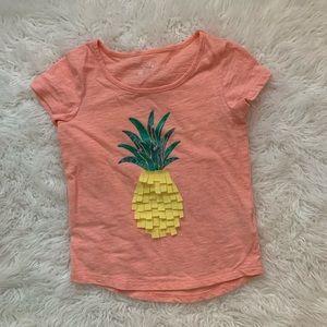 Cherokee Pineapple short sleeve top size 4 5